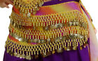 Belly Dancer Coin Sash Belt with 3 Layers of Jingling Coins Free Shipping for US