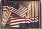 Box Of 100 Mini Toothpick Pick Flags 24 Countries & World Flags and More!!