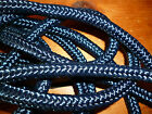 "Blue 8mm 5/16"" diamond braid polyester rope yacht sailing boat equestrian"