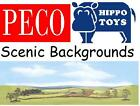 Peco Scenic Backgrounds or Backscenes OO Gauge Model Railways - Choose from list