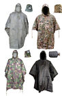 Army Waterproof Military Combat Hooded Basha Poncho Camo US British Green Black