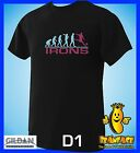 IRONS  evolution west ham   sports football funny MENS T SHIRT small to 5XL