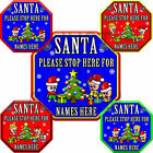 For Christmas SANTA PLEASE STOP HERE Personalised Car Window Sign Baby on Board