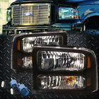 99-04 SUPERDUTY EXCURSION CONVERSION 07 BLACK HARLEY HEADLIGHTS 00 01 02 03