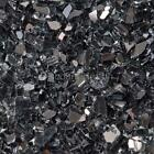 "Black Reflective 1/4"" 1-120 lbs Fireglass Fire Glass Fire Pit Fireplace Crystals"