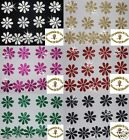 FABRIC GLITTER 20mm DAISY FLOWER IRON-ON DIY TSHIRT TRANSFER CARD MAKING toppers