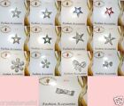 STAR FASHION BROOCH PIN BADGE OCCASION CRYSTAL bead BLING gift WEDDING accessory