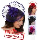 1 Spring Racing Race Party Melbourne Cup Feather Fascinator Headband 6 Colours