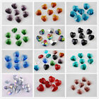 36 Charms Glass Crystal Heart Faceted Loose Pendant Spacer Finding Beads 14mm