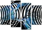 CANVAS WALL ART LARGE QUALITY ABSTRACT PICTURE PRINTS  DIGITAL SENSE BLUE