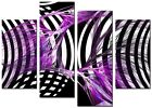 CANVAS WALL ART LARGE QUALITY ABSTRACT PICTURE PRINTS  DIGITAL SENSE PURPLE