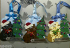 Christmas Jingle Cat  *Hand Stitched and Crafted*  Gift Tag