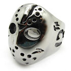 Men's PUNK gothic biker anchorite silver stainless steel cool mask PARTY ring
