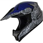 High Quality MOTOCROSS Helmet ATV Dirtbike DOT Helmet 127 blue
