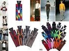 1pc Men Women 3Clips-on Elastic Neon Adjustable Braces Suspenders Solid 9 Colors