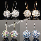 8mm 18K Gold Plated Earrings use Swarovski Crystal Valentine E408 - 4 choices