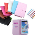 Girl Candy Color Wallet Flip Case Cover + Stylus For Samsung Galaxy Note 2 N7100