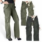 SURPLUS LADIES TROUSER PANT DAMEN CARGO ARMY HOSE VINTAGE MILITARY PREMIUM 34-42