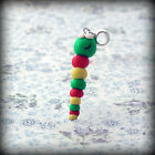 Caterpillar, bracelet Charm, fits Any Euro Bracelet Funky Cute Kitsch