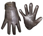 G70 LADIES LEATHER SEAMED THERMAL FLEECE LINED BUTTON FASTEN DRIVING GLOVE BROWN