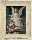 GUARDIAN ANGEL Protecting Children on Bridge BELOVED CLASSIC Antique ART PRINT