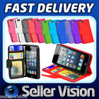 New Leather Executive Wallet Flip Case Cover Card Pouch Cover for Apple iPhone 5