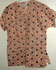 New 2 pocket VNECK scrubs top  65%poly 35%cotton FLORAL PRINT #5 by SCRUB-OUTET