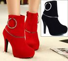 Hot Vogue Womens Platform Pumps Stiletto High Heels Ankle Boots Shoes