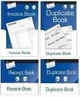 INVOICE BOOK RECEIPT BOOK FULL AND HALF SIZE DUPLICATE BOOK 1-100 NUMBERED