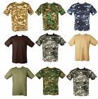 Mens Army Combat Military DPM Woodland Desert Urban Green Black Camo T-shirt New