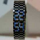 Blue/Red LED Mens Women's Metal Digital Lava Style Sports Bracelet  Wrist Watch
