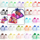 20/40/60/100Pcs Strong Organza Gift Bag Wedding Jewellry Pouch Wholesale 7x9cm