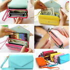 Womens Multifunctional Card Bag Purse Phone Case Lady Clutch Wallet Leather Bag