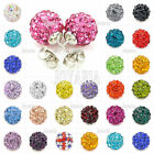 Sweet Disco Ball Bead Shining Cystal Pave Friendship Rhinestone Ear stud Earring