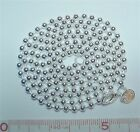 """925 Sterling Silver 3mm Bead Ball Chain Necklace 18"""" 20"""" 22"""" 24"""" 34"""" 40"""""""