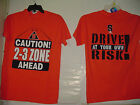 Syracuse University Orange SU caution 2-3 Zone Mens Adult Shirt Size S M L XL