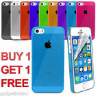 ULTRA THIN CRYSTAL CLEAR BACK CASE  FOR APPLE IPHONE 5/5S/SE FREE SCREEN GUARD