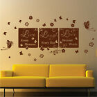 DecoMatters Live Laugh Love Bedroom Lounge Vinyl Wall Quotes, Wall Art Stickers