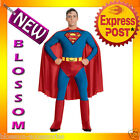 C692 Licensed Superman Men Superhero Halloween Fancy Dress Adult Costume