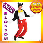 C696 Mens Disney Mickey Mouse Halloween Fancy Dress Adult Costume RB