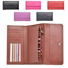 Ladies Soft Genuine Smooth Leather Tri-Fold Purse with Coin Section