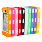 Hybrid Rugged Rubber Matte Hard Case Cover for iPhone 4G 4S