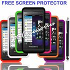 NEW SILICONE GEL CASE COVER SKIN FOR BLACKBERRY Z10 MOBILE + FREE SCREEN GUARD