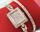 Hot Luxury Glitter Rhinestone Womens Stainless Steel Quartz Analog Wrist Watch