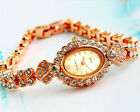 Luxury Glitter Rhinestone Women Lady Stainless Steel Quartz Analog Wrist Watch
