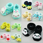 Cute Baby Girl Boy Gift 3D Socks Booties Slippers Anti/non Slip 0-6months 7-9CM