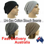 Unisex Ladies Men Slouch Beret Plain Jersey Baggie Baggy Hat Rasta Beanie COTTON