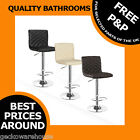 Horizon Breakfast Kitchen Leather Bar Stool Barstools Black Cream Taupe