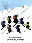 Cats Wishing Purrfect Christmas Quilt Block Multi Sizes FrEE ShiPPinG WoRld WiDE