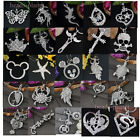 Silvery Crystal Rhinestone Jewelry Skull Cross Star Pendant Charms For Necklace